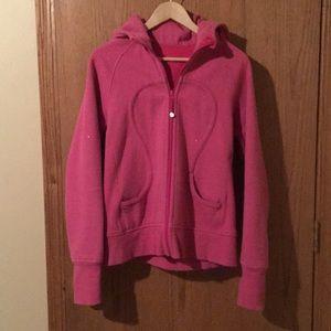 Lululemon Bright Sparkle Pink Hoodie